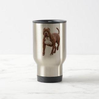 Pit bull brown travel mug
