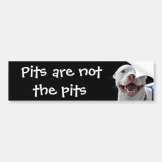 Pit bull car bumper sticker