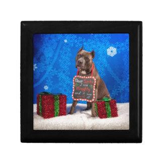 Pit-Bull Christmas Gift Box