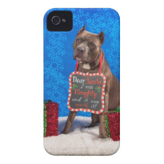 Pit-Bull Christmas iPhone 4 Cases