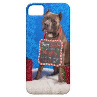 Pit-Bull Christmas iPhone 5 Case