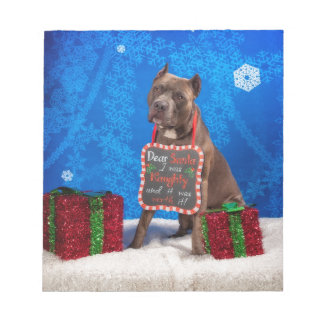 Pit-Bull Christmas Notepad