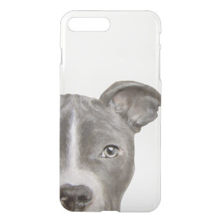 Pit bull, clear iPhone Case, original by miart iPhone 8 Plus/7 Plus Case