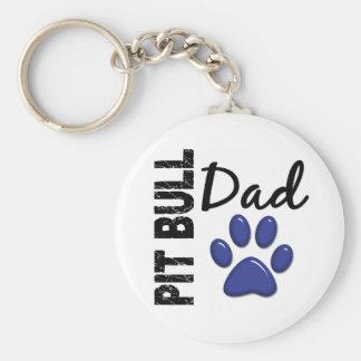Pit Bull Dad 2 Keychain