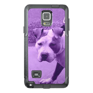 Pit Bull Dog in Purple OtterBox Samsung Note 4 Case