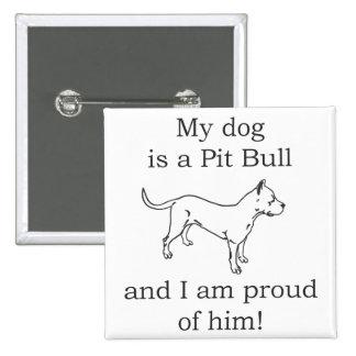 Pit bull dog love pin