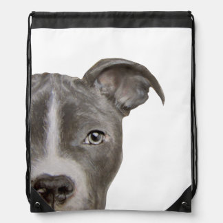 Pit bull drawstring bag