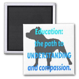 Pit Bull Education Square Magnet