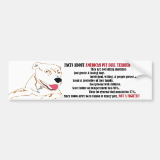 Pit Bull Facts Bumper Sticker