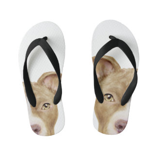Pit Bull golden Brown Kid's Thongs