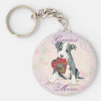 Pit Bull Heart Mom Key Ring