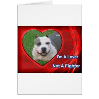Pit Bull Lover Greeting Card