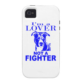 PIT BULL LOVER NOT A FIGHTER iPhone 4/4S CASES