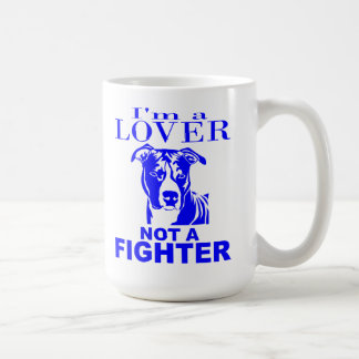 PIT BULL LOVER NOT A FIGHTER CLASSIC WHITE COFFEE MUG