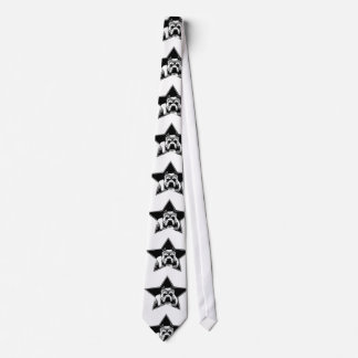 Pit Bull Lovers Tie - Black and White Graphic