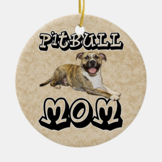 Pit Bull MOM - Tigger Ceramic Ornament