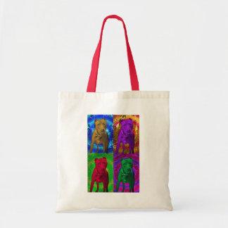 Pit Bull Pop Art in Various Colors Budget Tote Bag