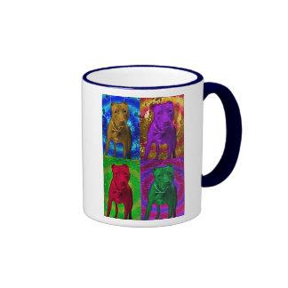 Pit Bull Pop Art in Various Colors Coffee Mugs
