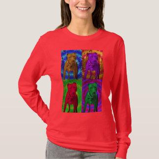 Pit Bull Pop Art in Various Colors T-Shirt