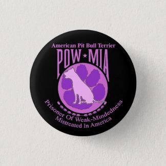 Pit Bull POW MIA Button Purple