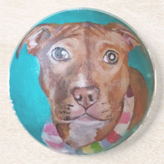 Pit Bull pup Coaster