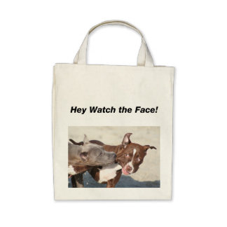 Pit Bull Puppys at Play Canvas Bag