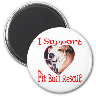 Pit bull Rescue 6 Cm Round Magnet
