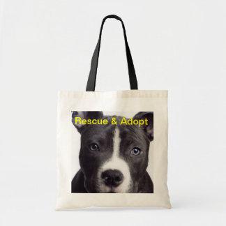 Pit Bull, Rescue & Adopt Budget Tote Bag