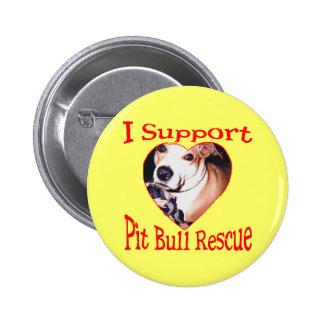 Pit bull Rescue Button