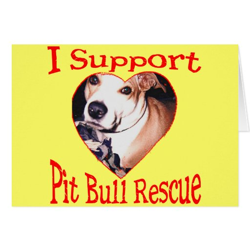 Pit bull Rescue Greeting Cards