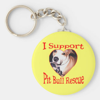 Pit bull Rescue Keychains