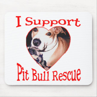 Pit bull Rescue Mouse Pad