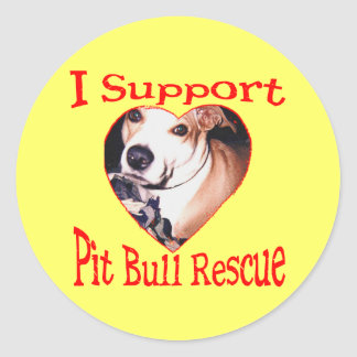Pit bull Rescue Stickers
