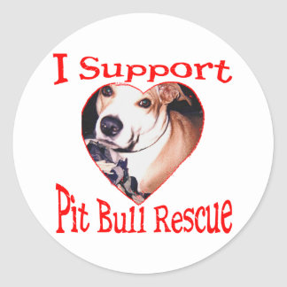 Pit bull Rescue Round Stickers