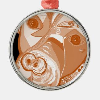 Pit Bull Sepia Tones Metal Ornament