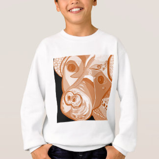 Pit Bull Sepia Tones Sweatshirt