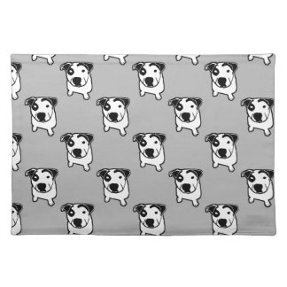 Pit Bull T-Bone Graphic Place Mats