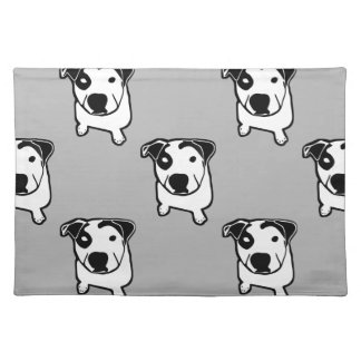 Pit Bull T-Bone Graphic Placemats