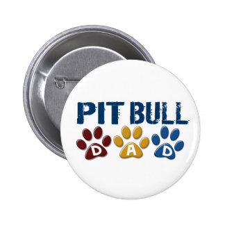PIT BULL TERRIER Dad Paw Print 1 Pin