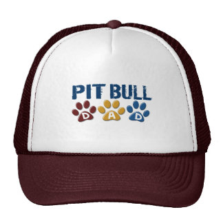 PIT BULL TERRIER Dad Paw Print 1 Hat