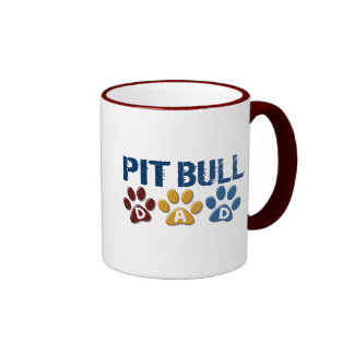 PIT BULL TERRIER Dad Paw Print 1 Coffee Mugs