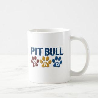 PIT BULL TERRIER Dad Paw Print 1 Coffee Mug