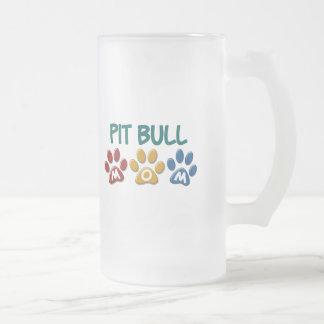PIT BULL TERRIER Mom Paw Print 1 Coffee Mug