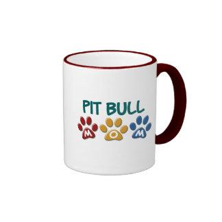 PIT BULL TERRIER Mom Paw Print 1 Mug