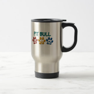 PIT BULL TERRIER Mom Paw Print 1 Coffee Mugs