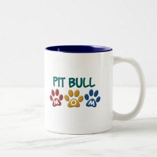 PIT BULL TERRIER Mom Paw Print 1 Coffee Mugs