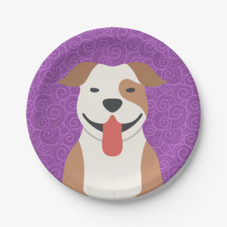 Pit Bull Terrier Paper Plates