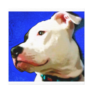 Pit Bull Terrier Rescue Gallery Wrap Canvas