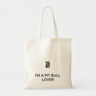 Pit bull tote budget tote bag