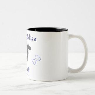 pit bull Two-Tone coffee mug